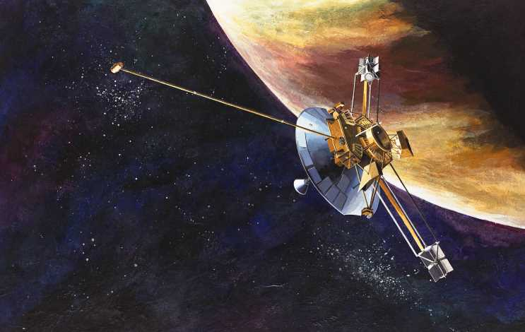 The Pioneer 10 spacecraft at Jupiter