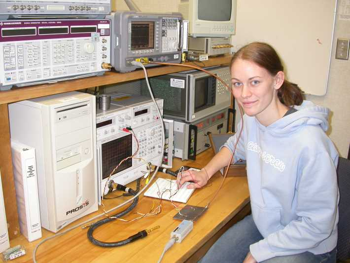 A graduate student at an electronics and systems engineering laboratory at Carleton University